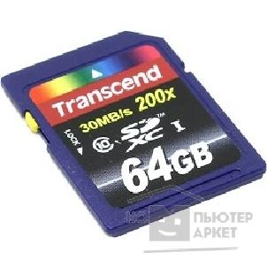 Карта памяти  Transcend Micro SecureDigital 64Gb  Class 10 TS64GUSDXC10