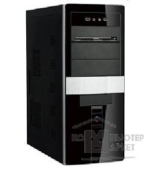 Корпус SuperPower MidiTower SP 6237-A1/ A11 Черно-серебр.  400W  USB/ AU PW 1 24 Pin SATA