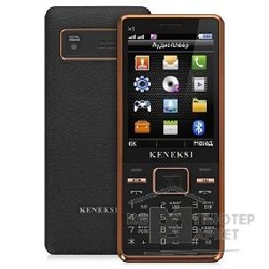 Кенекси KENEKSI X5 Black-golden, 2.8'' 320x240, up to 16GB flash, 1.3Mpix, 2 Sim, 2G, BT, 1000mAh, 92g, 130x56x11