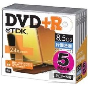 ���� Verbatim DVD+R 2.4x, 8.5Gb Double Layer, TDK, Jewel Case