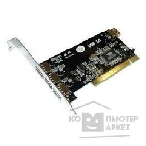 Контроллер 4-port USB 2.0 PCI card  3ext.+1int. OEM