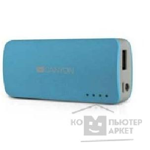 Аксессуар Canyon CNE-CPB44BL Blue color portable battery charger with 4400mAh, micro USB input 5V/ 1A and USB output 5V/ 1A max.