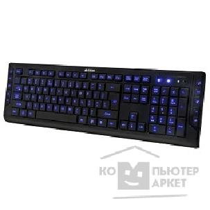 Клавиатура A-4Tech Keyboard A4Tech KD-600L BLUELIGHT USB 114 клавиш, мультимедиа, X-Slim, подсветка