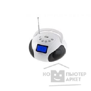 Радиоприемник Perfeo мини-аудио BOOMBOX Bluetooth, FM, MP3 USB/ SD, BassBooster, USB/ 800mAh, белый PF-BOOM210-WT