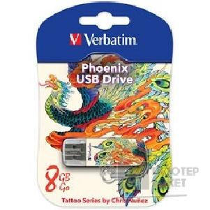 носитель информации Verbatim USB Drive 8Gb Mini Tattoo Edition Phoenix 049883