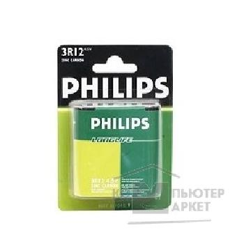 Батарейка Philips 3R12-1BL Long Life 1 шт. в уп-ке