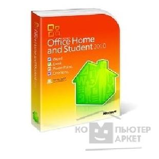 Программное обеспечение Microsoft 79G-02537 Office Home and Student 2010 Russian Russia PC Attach Key PKC Microcase