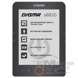 "Digma Электронная книга S683G 6"" E-ink HD Carta 1024x758 Touch Screen 4Gb microSDHC frontlight серый 397357 397357"