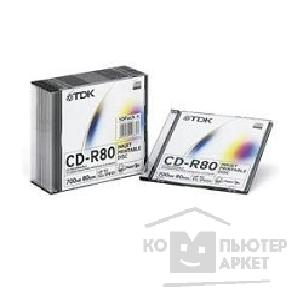 Диск Tdk CD-R  700Mb 80min 52x Slim Case, 10шт