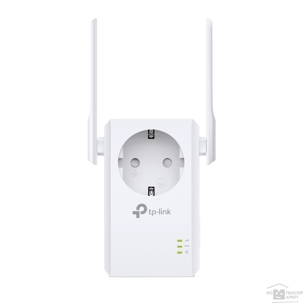 Сетевое оборудование Tp-link TL-WA860RE 300Mbps Wireless N Wall Plugged Range Extender with AC Passthrough, QCA Atheros , 2T2R, 2.4GHz, 802.11b/ g/ n, 1 10/ 100Mbps LAN port, Range Extender button, Range Extender mode, suppo