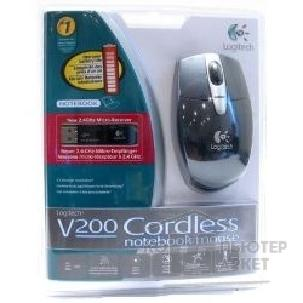 Мышь Logitech 931380  V200 Cordless Notebook Mouse черный RTL