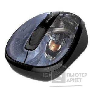 Мышь Microsoft Wireless Mobile Mouse 3500 Halo Limited Edition: The Master Chief Black USB GMF-00416