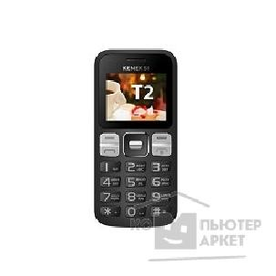 Кенекси KENEKSI T2 Black, 2'' 176x220, up to 16GB flash, 0.3Mpix, 2 Sim, 2G, BT, 1000mAh, 97g, 121,8x55,5x13,5