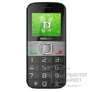 Кенекси KENEKSI T1 Black, 2'' 176x220, up to 16GB flash, 0.3Mpix, 2 Sim, 2G, BT, 1000mAh, 97g, 121,8x55,5x13,5