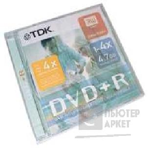Диск Tdk DVD+R 4x, диск 4.7 Gb, , Jewel Case