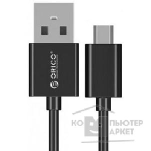 Кабель Orico  ADC-08-BK Кабель USB2.0 A male to MicroUSB 2.0 0.8m ADC-08 черный