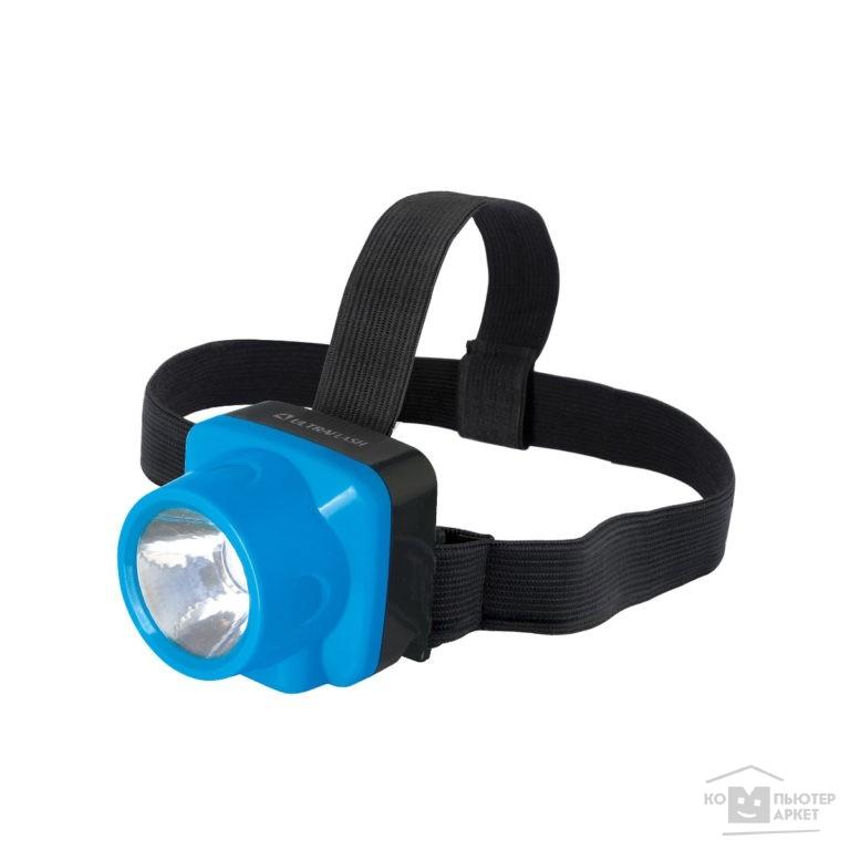 Ultraflash Фонари Ultraflash LED5375 фонарь налобн аккум 220В, голубой, 1 Ватт LED, 2 реж, пласт, бокс /Ultraflash Фонари Ultraflash LED5375 фонарь налобн аккум 220В, голубой, 1 Ватт LED, 2 реж, пласт, бокс