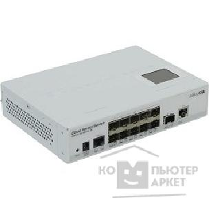 Сетевое оборудование Mikrotik CRS212-1G-10S-1S+IN Коммутатор Cloud Router Switch with Atheros QC8519 400Mhz CPU, 64MB RAM, 1xGigabit LAN, 10xSFP cages, 1xSFP+ cage, RouterOS L5, LCD panel, desktop case, PSU