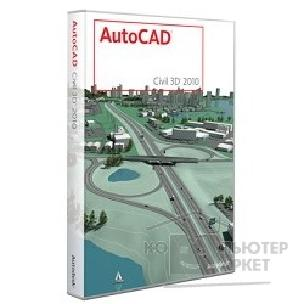Программное обеспечение Autodesk 237B1-20A111-1001 AutoCAD Civil 3D 2010 Commercial New SLM RU