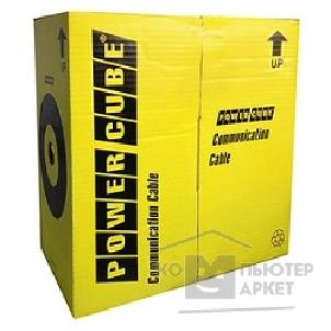 Кабель PowerCube [PC-UPC-5004E-SO/ 100] Кабель UTP кат.5e, 4 пары, 100 м pullbox , МЕДЬ одножильный 0.48 мм