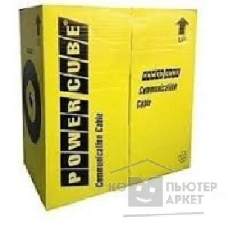 Кабель PowerCube [PC-UPC-5040E-SOL] Кабель UTP кат.5e, 4 пары, 0.40 мм 305 м pullbox , ССА одножильный