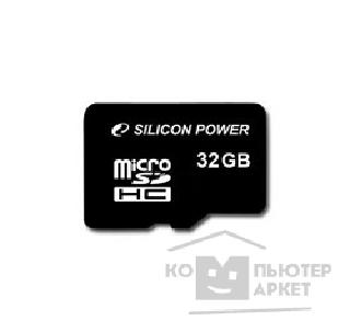 Карта памяти  Silicon Power Micro SecureDigital 32Gb  SDHC Class 6 SP032GBSTH006V10