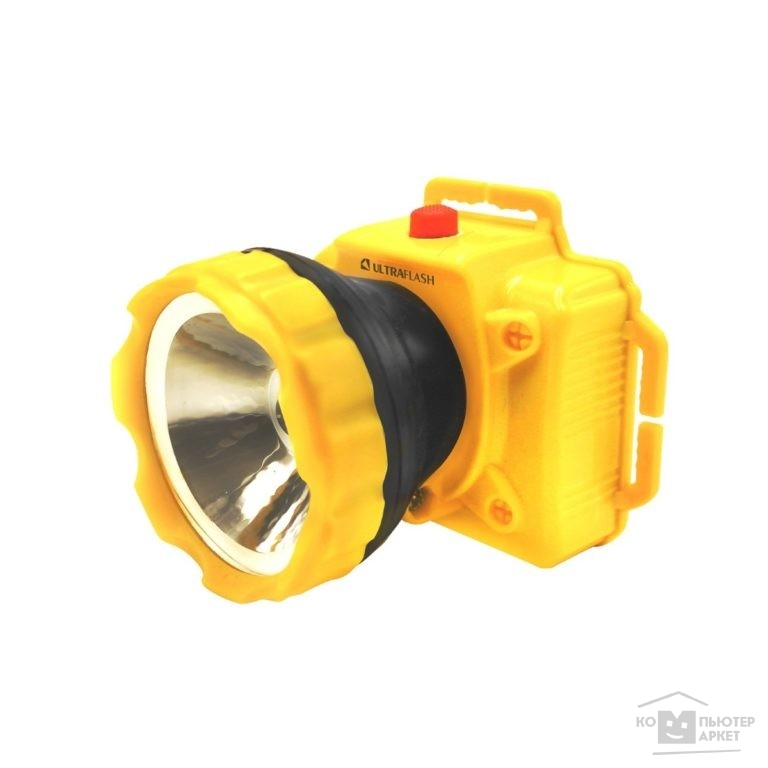 Ultraflash Фонари Ultraflash LED53761 фонарь налобн, желтый, 1LED 1Вт, 1 реж, 3XR6, пласт, коробка /Ultraflash Фонари Ultraflash LED53761 фонарь налобн, желтый, 1LED 1Вт, 1 реж, 3XR6, пласт, коробка
