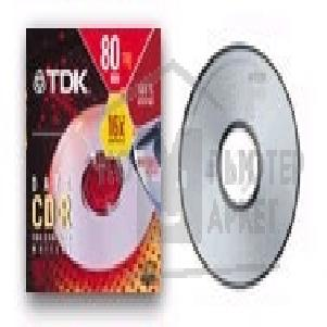 Диск Tdk CD-R80SCA Диск CD-R  700Mb, 80 min, 48-X/ 52-X Slim Case