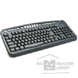 Клавиатура Oklick 330M Multimedia Keyboard PS/ 2 ммедиа + USB порт черный