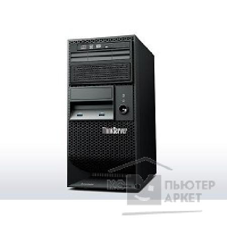 "Сервер Lenovo ThinkServer TS140: 70A4003NRU Intel® E3-1226v3 processor 3.30GHz, 4C, 8M Cache, 5.00 GT/ s, 84W, 4GB DDR3L-1600MHz 1Rx8 ECC UDIMM, 4 x 3.5"" DC, 0,1,5,10, 280W Fixed PSU, 1 Year Warranty"