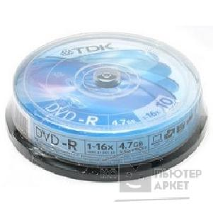 Диск Tdk Диски DVD-R , 4.7Gb 16х, 10шт, Cake Box 75000026502/ DVD-R47CBED10