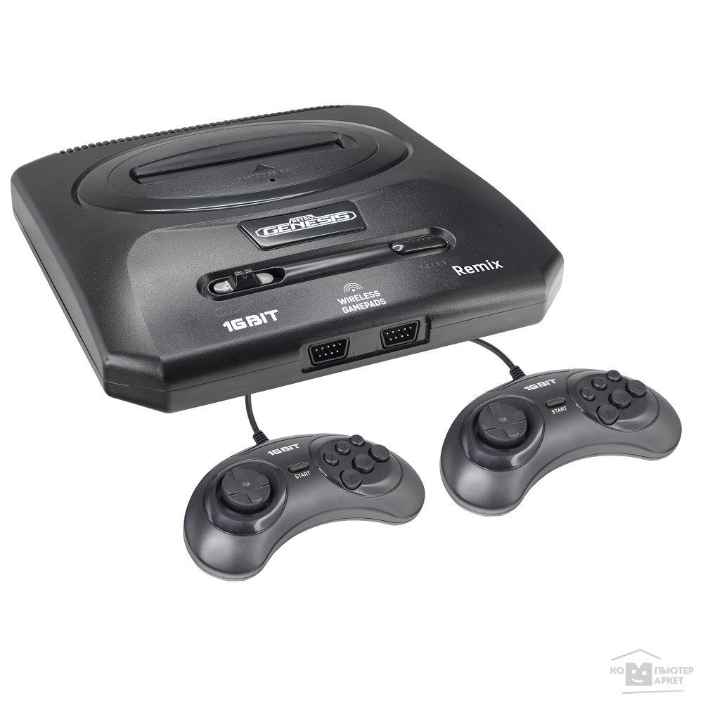 Retro Genesis Remix (8+16Bit) + 600 игр (AV кабель, 2 проводных джойстика) [ConSkDn91] [568033]/SEGA ConSkDn91 ConSkDn91