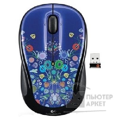 Мышь Logitech 910-003024  Wireless Mouse M325 Blue-Black