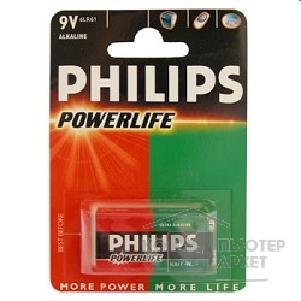 Philips Эл. пит.  6LR61-1BL POWER LIFE 1 шт. в уп-ке
