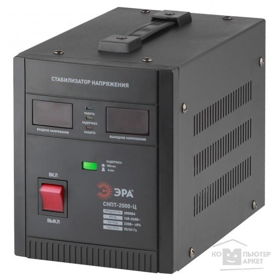 ЭРА Б0020160 СНПТ-2000-Ц Стабилизатор напряжения переносной, ц.д., 140-260В/220/В, 2000ВА/Эра СНПТ-2000-Ц Б0020160