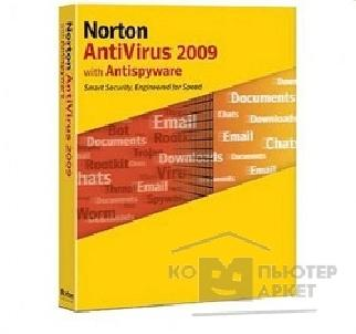 Программное обеспечение Symantec Norton Antivirus 2009 RU CD 1 USER