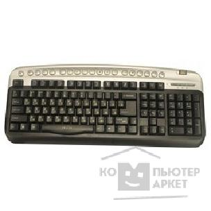 Клавиатура Oklick 320M Multimedia Keyboard PS/ 2 ммедиа + USB порт серебро