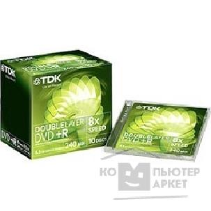 Диск Tdk 75000005951/ DVD+R85DLEC5 Диски  DVD+R 8x, 8.5GB, Double Layer Jewel Case, 5шт.