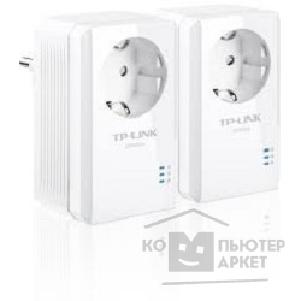 Сетевое оборудование Tp-link TL-PA2010PKIT AV200 Powerline Adapter with AC Pass Through Starter Kit, Ultra Compact Size, 200Mbps Powerline Datarate, 1 Fast Ethernet port, HomePlug AV, Green Powerline, Plug and Play, Twin