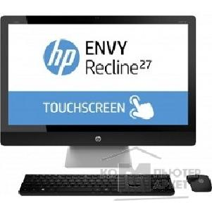 "Моноблок Hp Envy Recline 27 27-k400ur [G7S24EA#ACB] 27"" TS Core i5-4460T 12Gb 1x8Gb + 1x4Gb 1Tb+8Gb SSD NVIDIA GeForce 830A 2Gb no DVD IPS FHD WLED touch silver- black Kbd&Mouse Win"