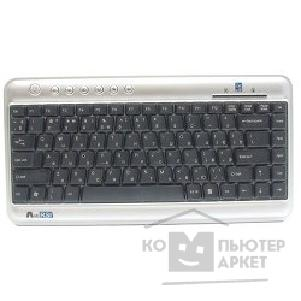 Клавиатура A-4Tech Keyboard A4Tech KLS-5, USB серебристо-черный мини, Slim, 7 доп клав.