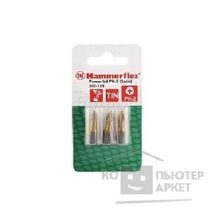 Hammer Бита  Flex 203-105 PB PH-2 25mm 3pcs  TIN, 3шт. [36726]