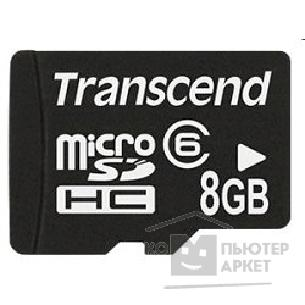 Карта памяти  Transcend Micro SecureDigital 8Gb  Class 6 TS8GUSDHC6-2 2 adp