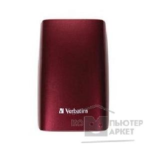 �������� ���������� Verbatim HDD 500Gb  USB2.0 Portable HDD [47587] Executive Turbo Speed Claret Red rubber coated