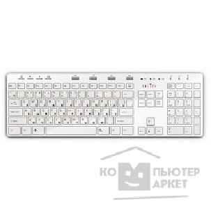 Клавиатура Oklick 600M X-Slim Multimedia Keyboard USB белый