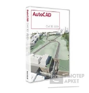 Программное обеспечение Autodesk 237A1-20A111-1001 AutoCAD Civil 3D 2009 Commercial New SLM RU