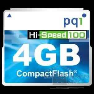 Карта памяти  Compact Flash PQI 4Gb Hi-Speed 100