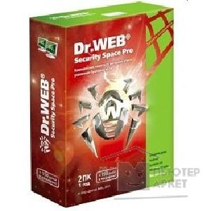 Программное обеспечение Dr. Web AHW-B-24M-2-A2 Dr.Web Security Space Pro на 24 месяца ПК, на 2 ПК