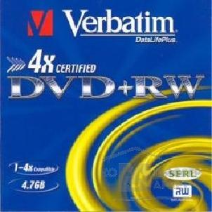Диск Verbatim 43636 Диски DVD+RW  4х, 4.7Gb Slim Case, 3 шт.