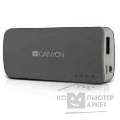 ���������� Canyon CNE-CPB44DG Dark grey color portable battery charger with 4400mAh, micro USB input 5V/ 1A and USB output 5V/ 1A max.